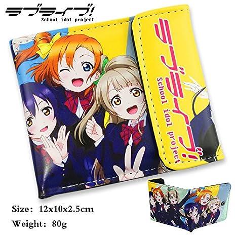 Amazon.com: e.a @ Mercado Anime Love Live corto PU Wallet, B ...