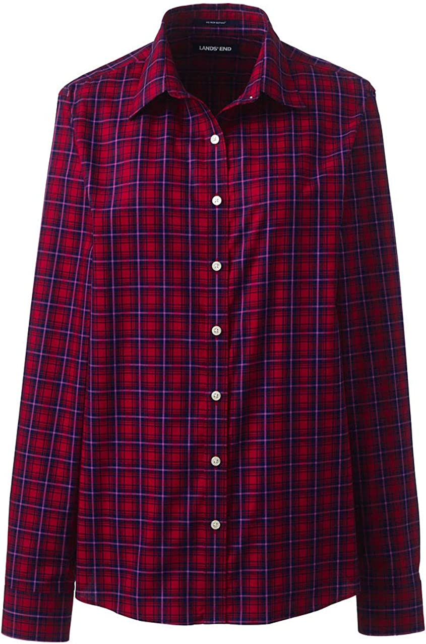 Lands End Womens No Iron Supima Cotton Long Sleeve Shirt