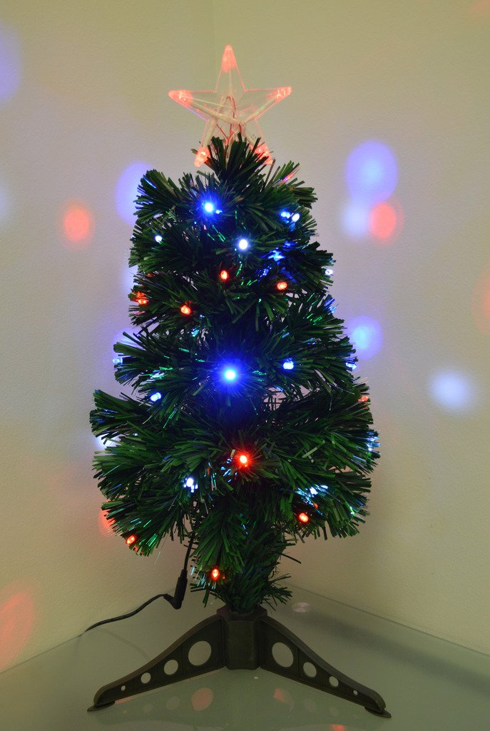 Fiber Optic Christmas Tree with Decorations
