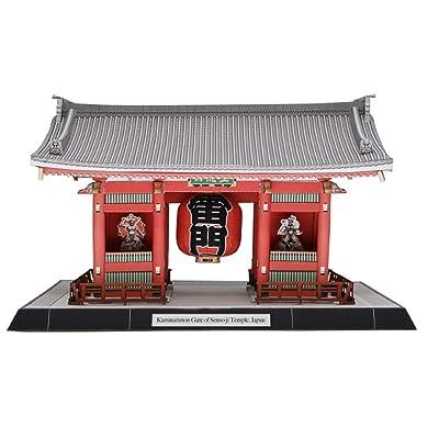 3D Puzzle Kaminarimon Puerta Del Templo Senso-Ji Modelo,Puzzle Ensamblaje Modelo De Construcción De Kit De Artesanía En Madera, Regalos Para Niños Y Adultos, Modelo De Arquitectura, Juguete De Réplica: Hogar