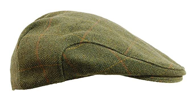 Men's Vintage Style Hats Mens Derby Tweed Flat Cap Teflon Coated $23.95 AT vintagedancer.com