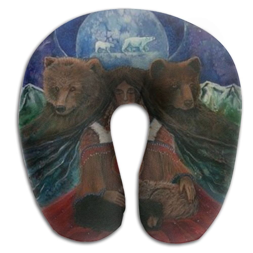 Scorpio Bear Animal Brace Travel Pillow Spa U SHAPE For Airplane Travel Man