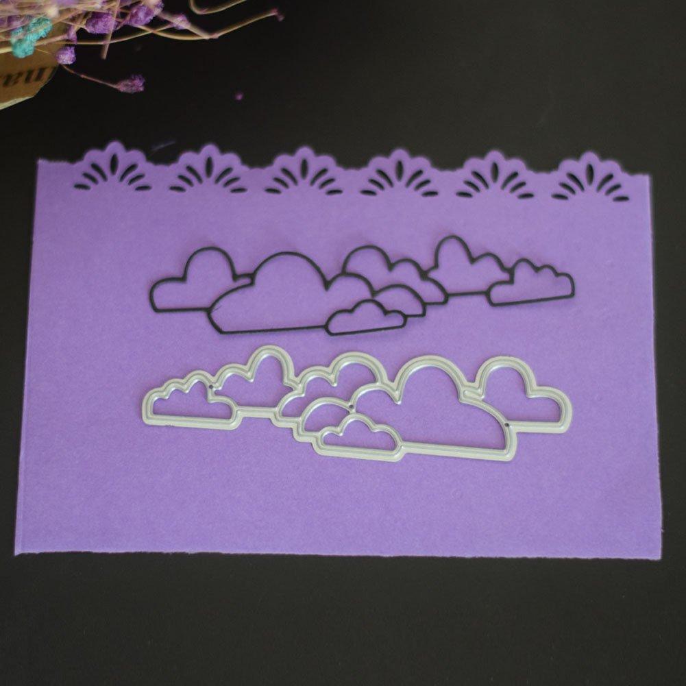 Cutting Dies,KimcHisxXv Cloud Metal Cutting Die Stencil for DIY Scrapbooking Photo Album Paper Card