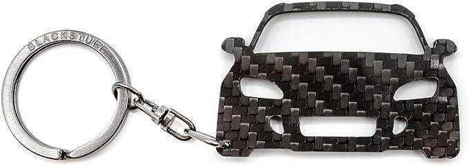Blackstuff Carbon Karbonfaser Schlüsselanhänger Kompatibel Mit S2000 Bs 114 Auto