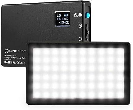 Lume Cube Bicolor LED Light for Professional DSLR Cameras | Adjustable Panel Mini, LCD Display | Photo and Video Lighting, Long Battery Life | Fits Sony, Nikon, Canon, Fuji, Panasonic