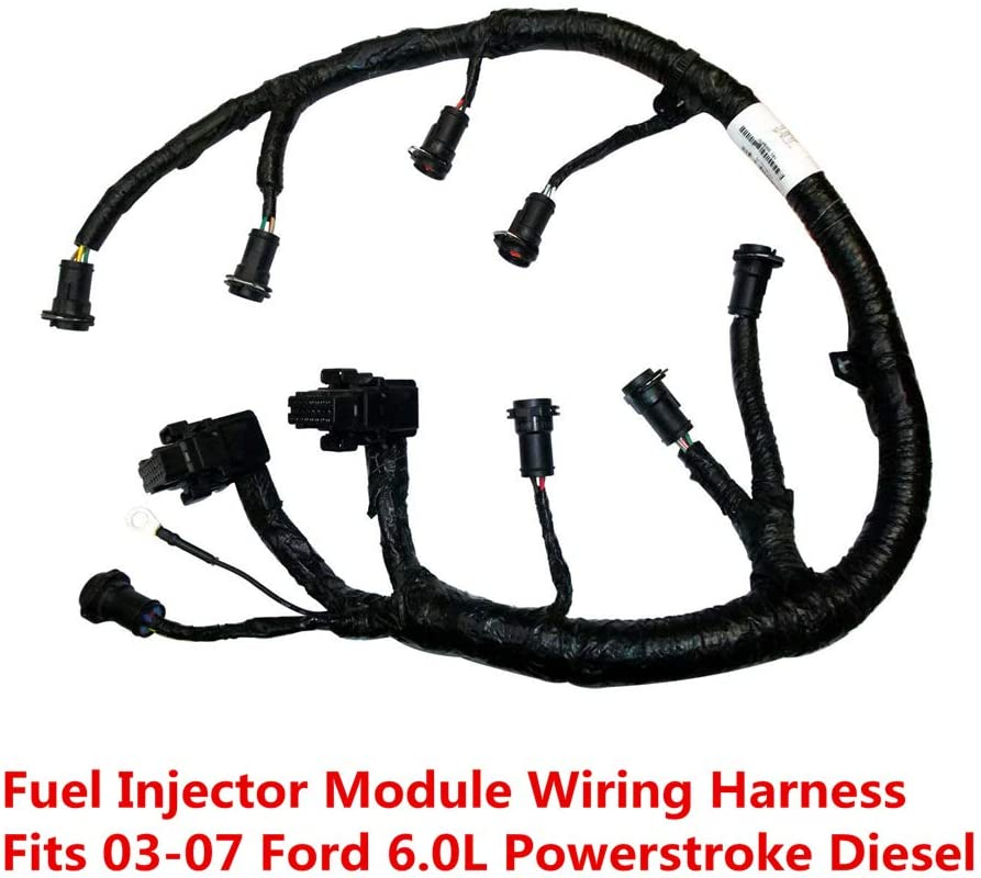 Amazon.com: FICM Engine Fuel Injector Complete Wire Harness - 5C3Z9D930A -  Compatible with for Ford Powerstroke 6.0L Diesel 2003, 2004, 2005, 2006,  2007 F250 F350 F450 F550 Excursion -Black | Ford F250 Wiring Harness |  | Amazon.com