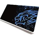 excovip Ratón tapete Azul Leopardo Juego Superficie de Goma Suave Antideslizante Almohadilla para Mouse Pad pc Gamer Laptop G