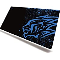 Blue Leopard Thick Gaming Mouse Pad-EXCO 700 * 300mm Anime Mouse Mat,Multiple Pattern Selection,Non-Slip Soft Rubber…