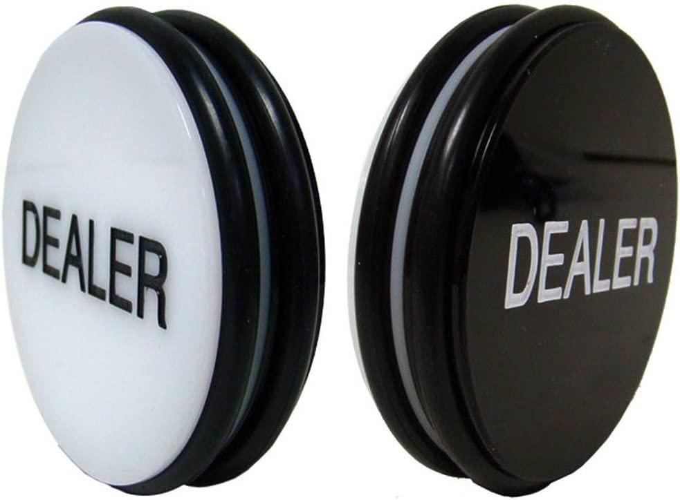 GSE Games & Sports Expert 3-Inch Double-Sided Casino Grade Acrylic Poker Dealer Puck Button