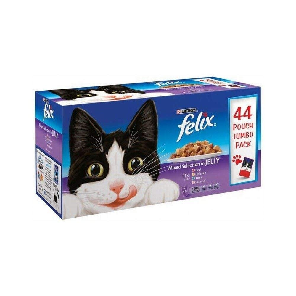 Felix Mixed Selection in Jelly Pouch (44x100g)