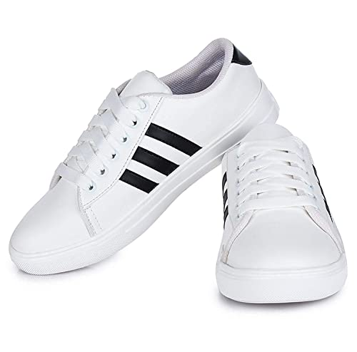 5f27be4c7 Bella Toes Women s White Sneakers-7 UK India (40 EU) (8804-WHITE-40)  Buy  Online at Low Prices in India - Amazon.in