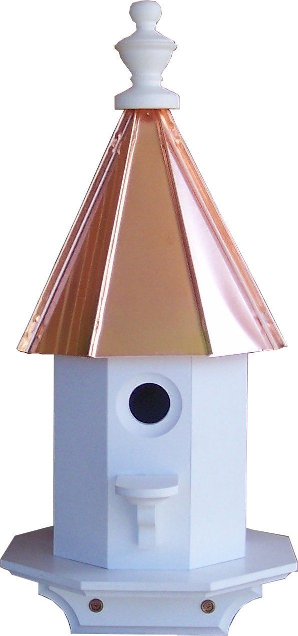 Woodpecker Bird House with Copper Roof