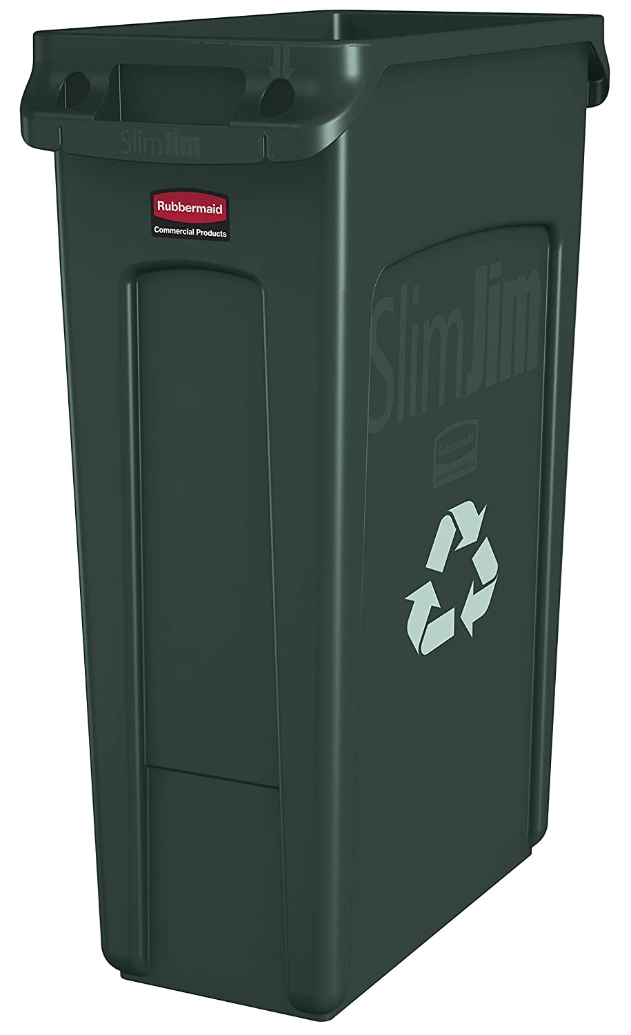 Rubbermaid Slim Jim 844637 Contenedor con asas color gris