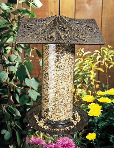 Whitehall Products Trumpet Vine Tube Feeder, 12-Inch, French Bronze - Bronze Oak Bird Feeder