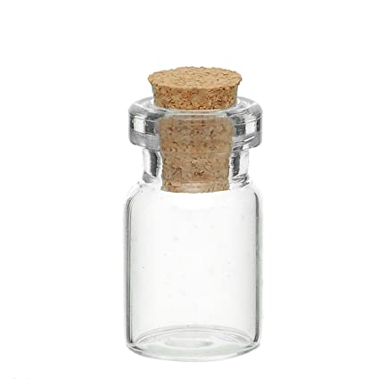 Mini botellas de vidrio viales con tapón de corcho para mensaje bodas Wish Joyería Party Favors