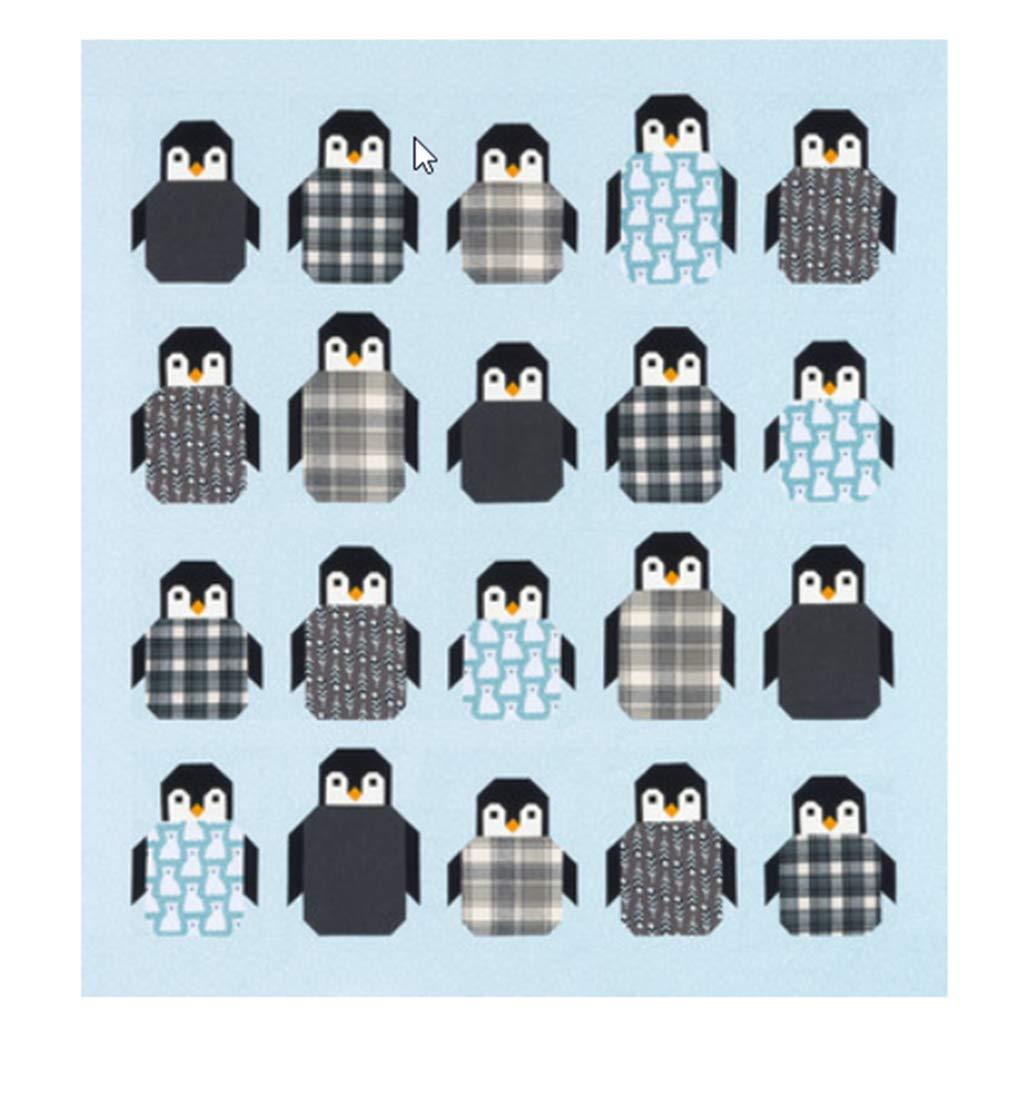 Elizabeth Hartman ペンギンパーティーキルトキット アーティスティックフランネル付き B07H9HK17P
