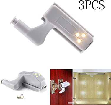 Cabinet Cupboard Closet Wardrobe Door Inner Hinge LED Sensor Light For Kitchen