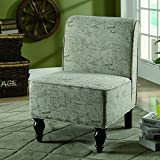 Monarch Specialties Vintage French Fabric Traditional Accent Chair