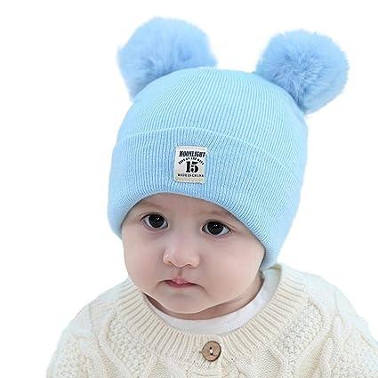 ZAY Baby Inverno Caldo Bambini Infantili del Bambino Crochet Cappello  Beanie Cappello Neonato Bambino Maglia Berretto 6e5277e301e9