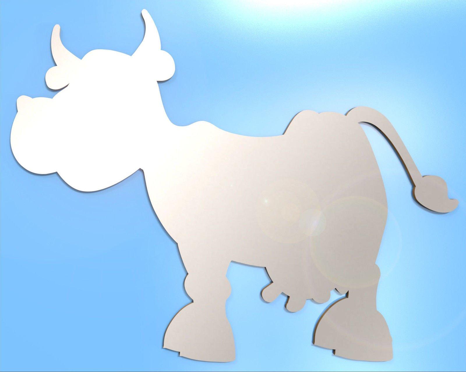 Wall Mirror Bathroom Mirror Any Room Cartoon Cow Cows Animal Farm 15cm 35cm 50cm Acrylic Mirror NO NAILS NO DRILL Needed 35cm x 28cm