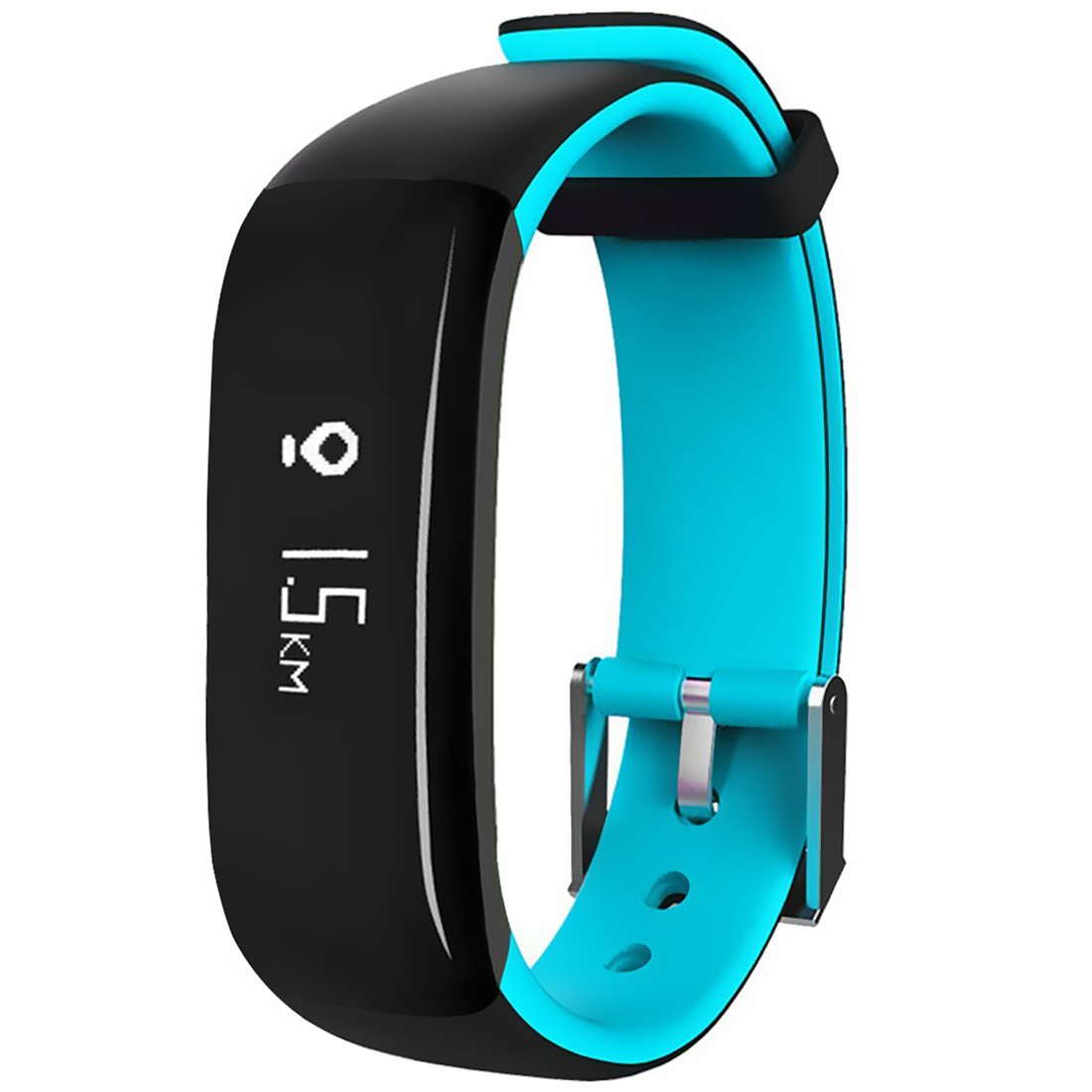 MBHB Waterproof Sport Smart Bracelet, Health Tracker with Heart Rate / Blood Pressure / Sleep Monitor, OLED Pedometer Bluetooth 4.0 Fitness Tracker for iOS Android Smartphones, Blue