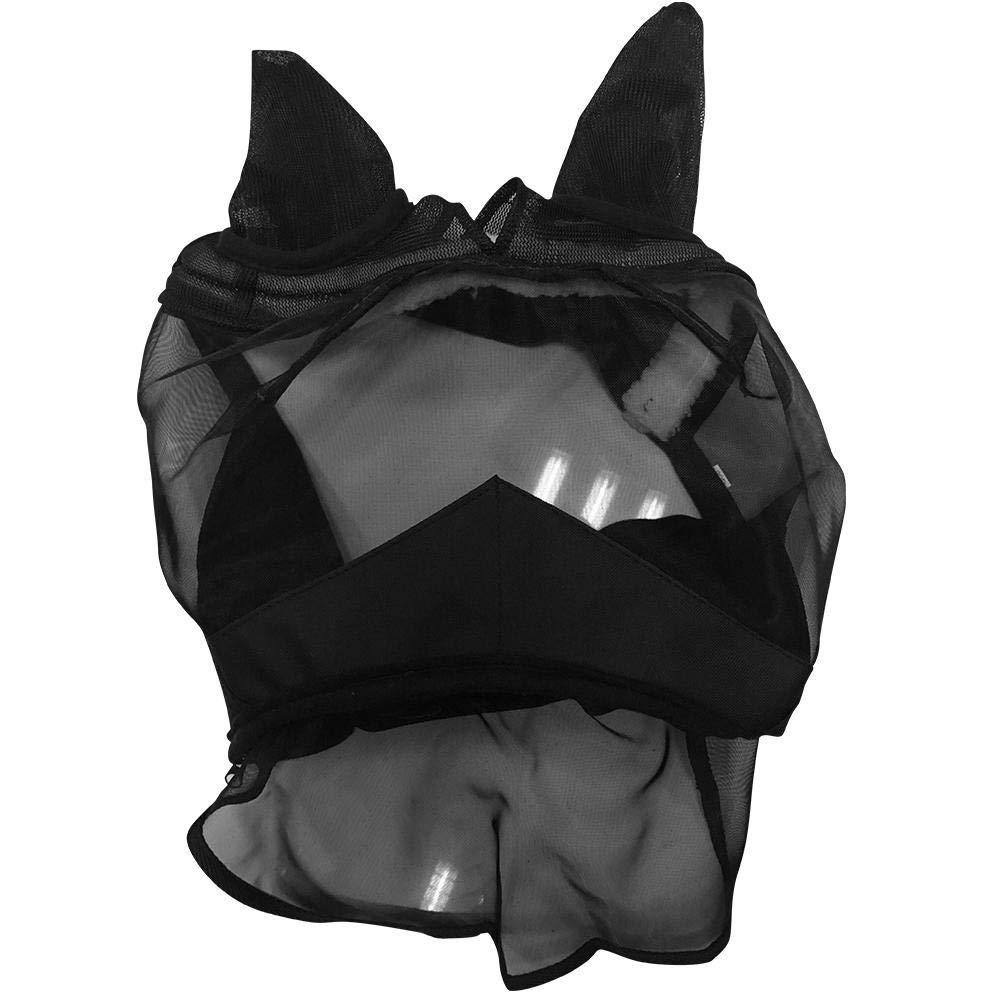 Protection naseaux Chevaux Anti-UV Oreilles et naseaux Noir Ausomely Bonnet Cheval Bonnet Anti-Mouches Masque Anti-Mouches Cheval