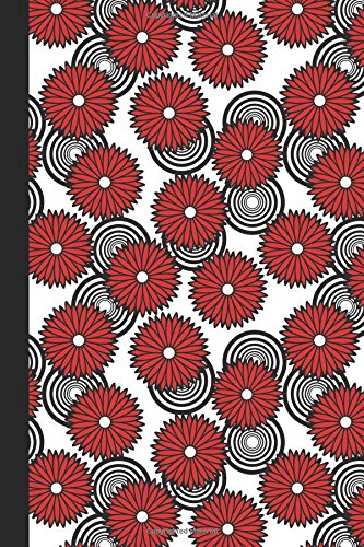 Sketchbook: Spirals and Flowers (Red) 6x9 - BLANK JOURNAL NO LINES - unlined, unruled pages (Spirals & Swirls Sketchbook Series)