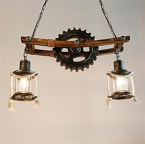 DKZ Iluminación Interior Lámparas de araña Lámpara de hierro ...