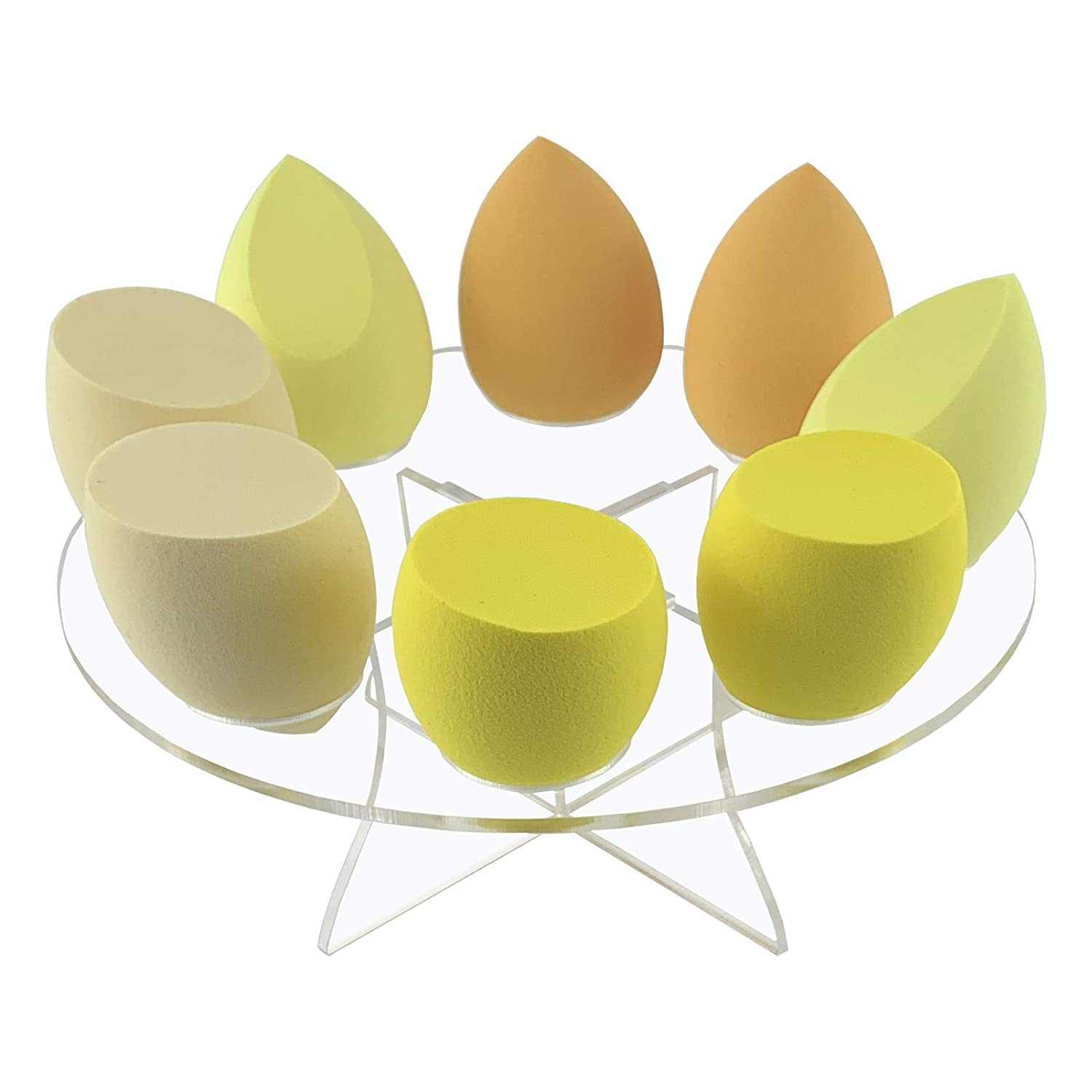 Makeup Sponge Holder, 8 Slots Beauty Blender Drying Organizer Egg Powder Puff Display Stand