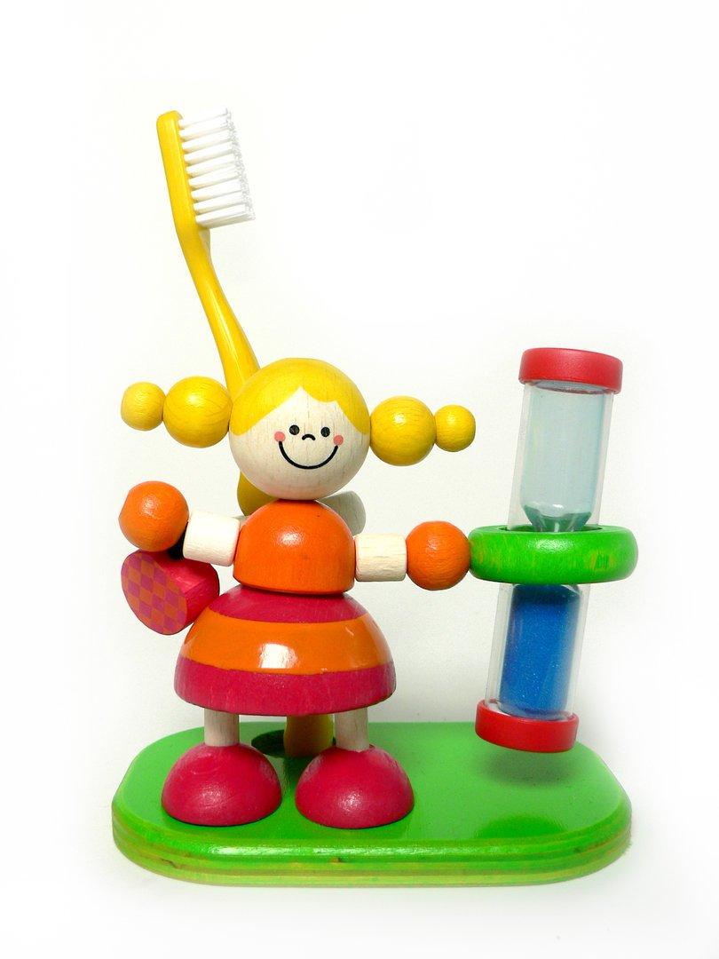 Zahnputzuhr Eloise 100 x 60 x 50 NEU Sanduhr Eieruhr Zähne Putzen Hess-Spielzeug