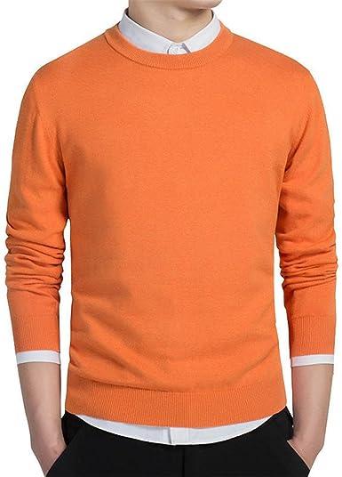Suéter de algodón para Hombre Jerseys Hombres suéteres de Cuello ...