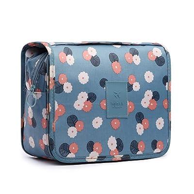 HaloVa Toiletry Bag Multifunction Cosmetic Bag Portable Makeup Pouch Waterproof Travel Hanging Organizer Bag