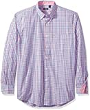 IZOD Men's Big and Tall Essential Tattersall Long Sleeve Shirt, Rapture Rose, X-Large Tall