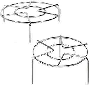 Food Steaming Racks Stand Stainless Steel for Instant Pot Cooking Rack Pressure Cooker Wok Pan Cooking Trivet Steam Cook Ware 2 Pack