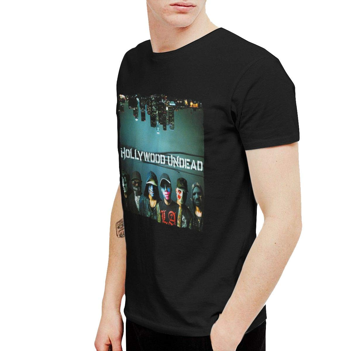 KaceO Mens Hollywood Undead Swan Songs T Shirts Black