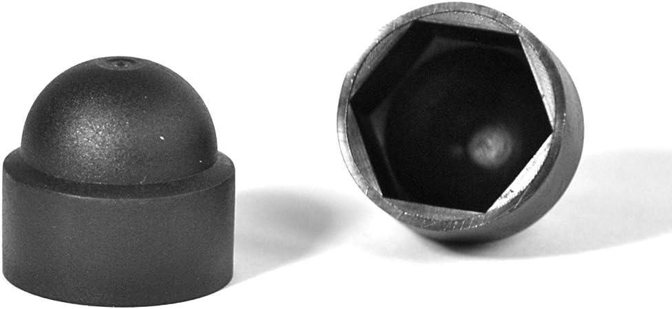 20 Pezzi ajile Cappucci Copri-Dado 10 mm Colore: Nero FAH110