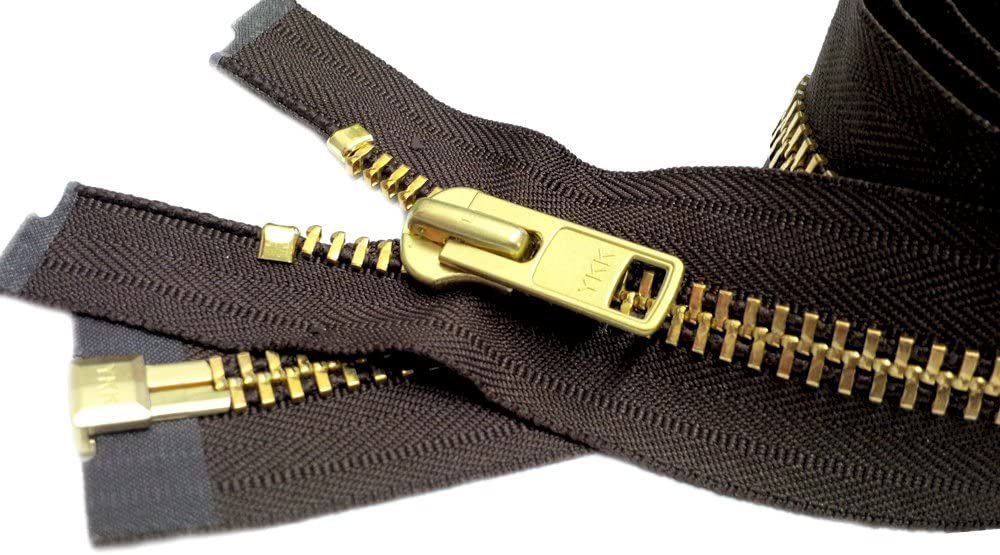 Chaps Zipper Length 14 Inches YKK/® #10 Extra Heavy Duty Aluminum Separating Color WHITE Special Custom Length ZipperStop Wholesale YKK/®