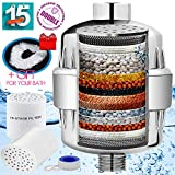 health plus 15 Stage Shower Filter - Filtered showers head softener for hard