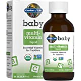 Garden of Life Baby Multivitamin Liquid, Certified Multivitamin Drops with Essential Vitamins & Nutrients for Babies & Toddle