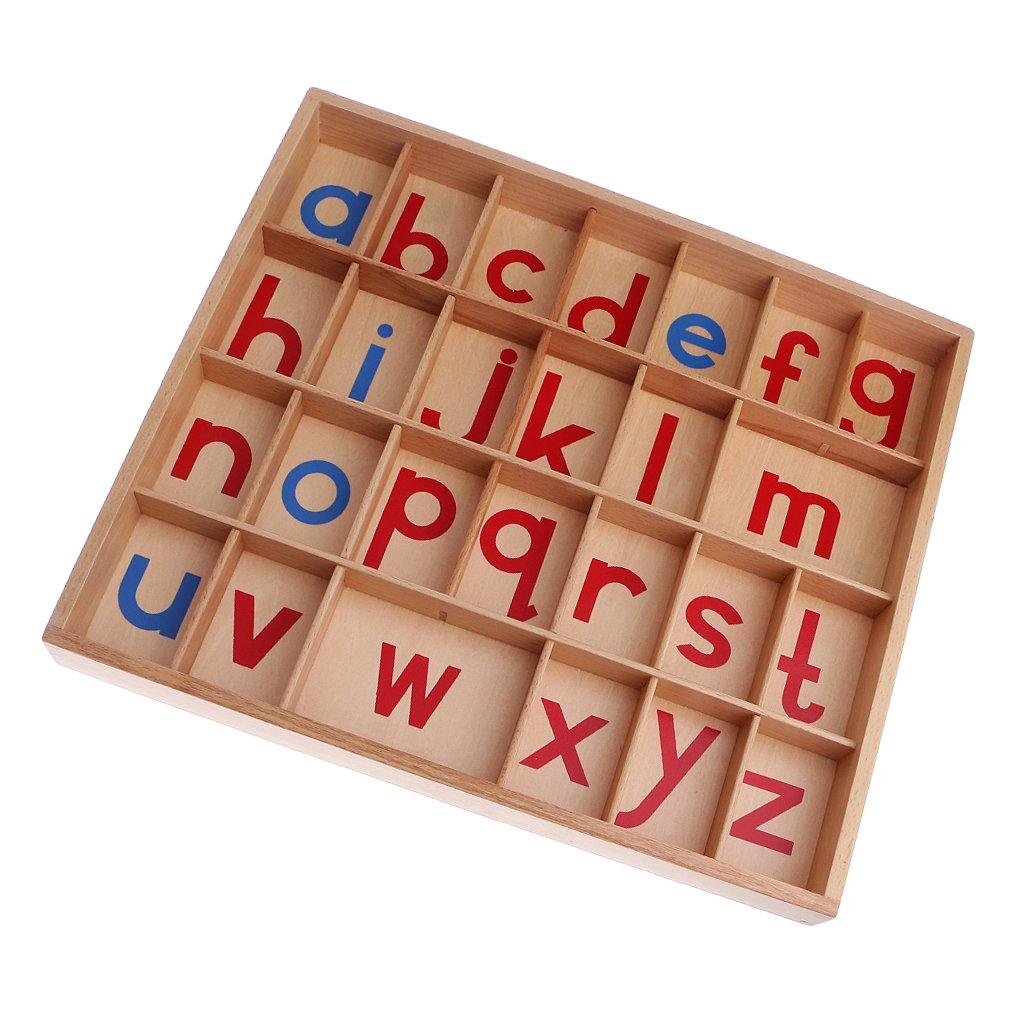 Baoblaze Alfabeto Mobile Lettere Scatola Di Legno Giocattolo Educativo Montessori Per Bambini