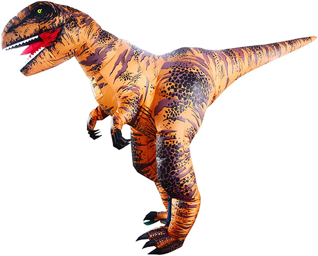 FREE SMALL DINOSAUR InflatableT-Rex Jumpsuit Adult Blow Up Costume Jurassic