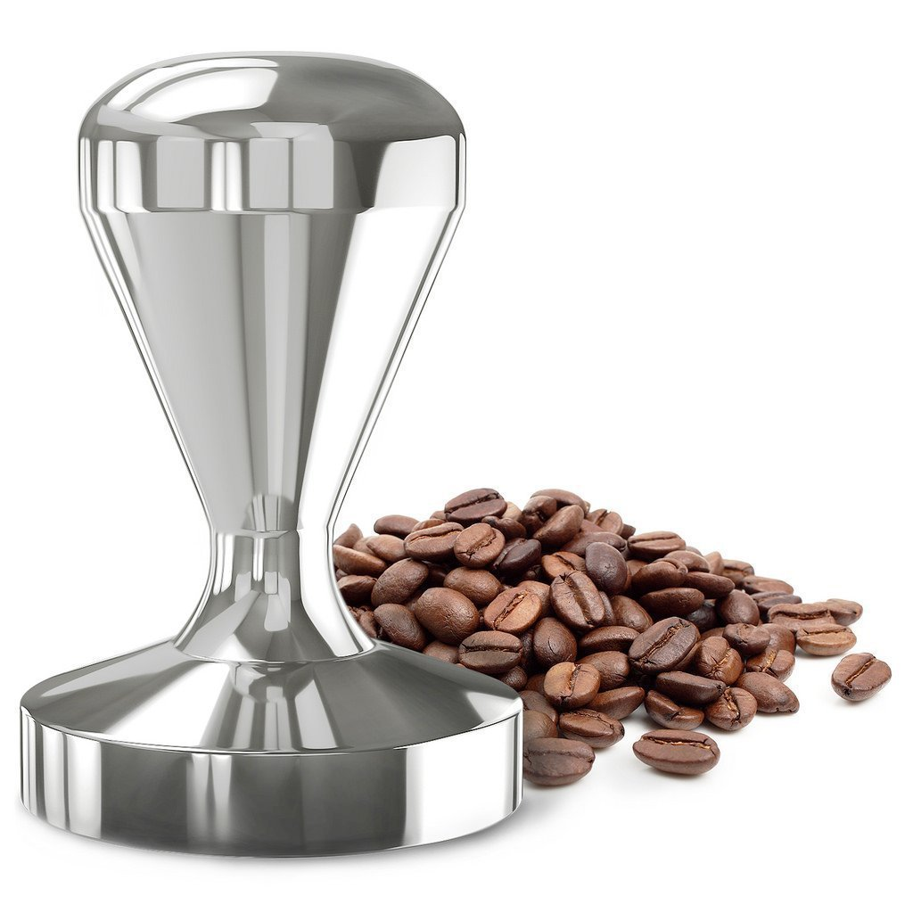 Coffee Tamper for DIY Espresso 49mm Stainless Steel Flat Base  Professional Barista Espresso Bean Press Tool by GOWOW