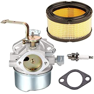 TOPEMAI HM80 Carburetor for Tecumseh 640152 640260 HM90 HM100 Rotary 13154 Lawnmower with 33268 Air Filter Spark Plug