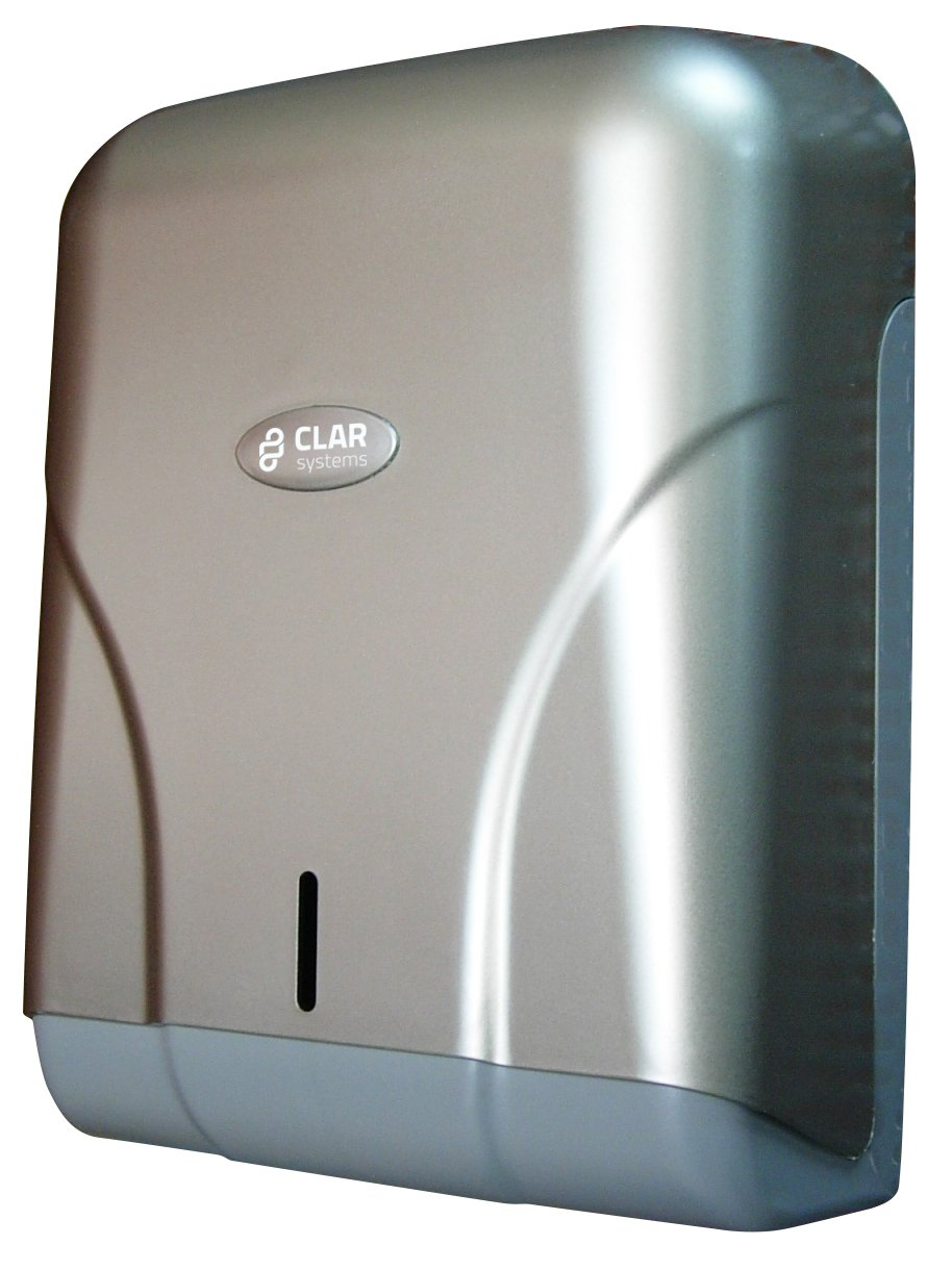 Clar Systems T6500PP Dispensador de Papel Toalla, 600 Toallas, Pintura Acero Lí quido Pintura Acero Líquido