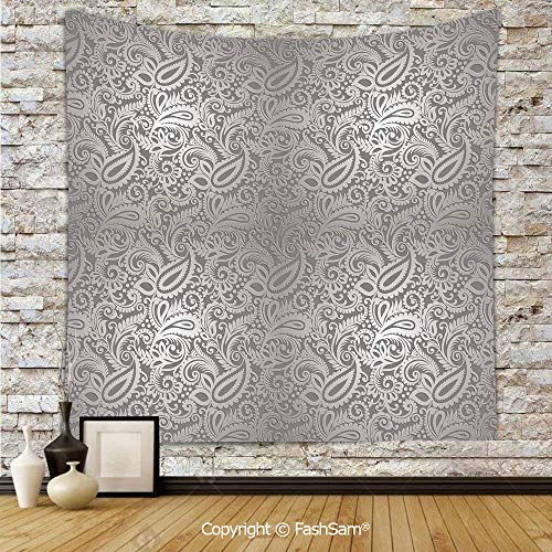 Tapestry Wall Blanket Wall Decor Traditional Paisley Pattern Old Fashioned Royal Floral Ornamental Tile Design Decorative Home Decorations for Bedroom(W59xL90)