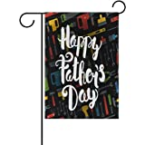 Amazon Com Wamika Happy Fathers Day Best Dad Double Sided Garden Yard Flag 12 X 18 Father Bbq Lovely Dog Hat Sunglasses Men Tie Decorative Garden Flag Banner For Outdoor Home Decor