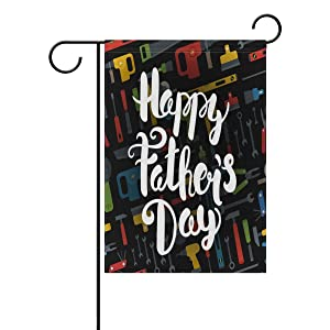 ALAZA Happy Fathers Day 12 x 18 Inch Decorative Colorful Welcome Garden Flag