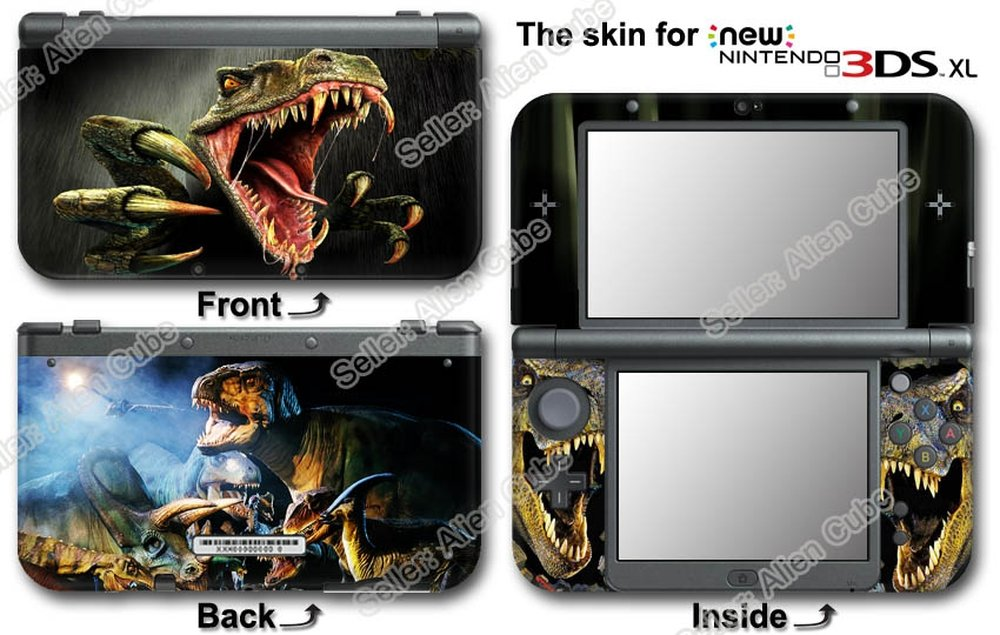 Dinosaur Super Cool Skin Vinyl Sticker Cover Decal for NEW Nintendo 3DS XL