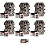 Stealth Cam 7 Megapixel Compact Scouting/Trail Cameras (P18) with Batteries and SD Cards, Camouflage: 6-Pack
