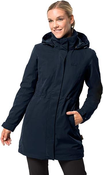 schön Jack Wolfskin Damen 3 in 1 Mantel Ottawa Coat Midnight